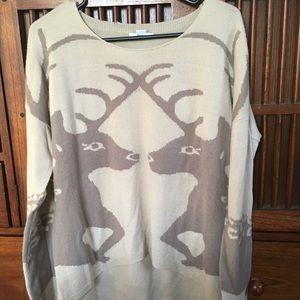 Bar III Deer Sweater